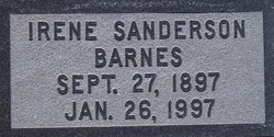 Irene <I>Sanderson</I> Barnes