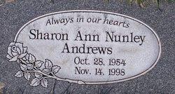 Sharon Ann <I>Nunley</I> Andrews