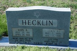 Lewis A Hecklin