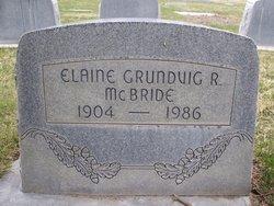 "Emma Elaine ""Elaine"" <I>Grundvig</I> McBride"