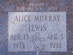 Alice May <I>Weiler</I> Lewis