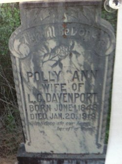 Mary PollyAnn <I>Elkins</I> Davenport