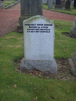 Margaret Owen Gordon <I>Mackie</I> Atkin