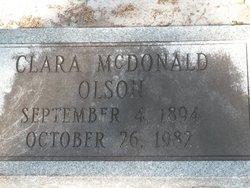 Clara <I>McDonald</I> Olson