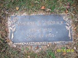 Maxine E. <I>Cook</I> Hedrick