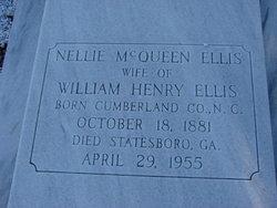 Nellie <I>McQueen</I> Ellis