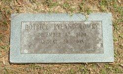Dortice <I>Ryland</I> Lowry