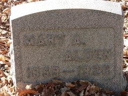 Mary A. <I>Clapper</I> Alden