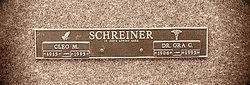Dr Ora C Schreiner