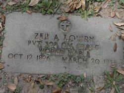 Zeb A Lowry