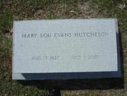 Mary Lou <I>Evans</I> Hutcheson