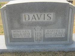 Martha Louisa <I>Scott</I> Davis