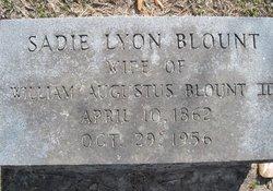 Sadie <I>Lyon</I> Blount