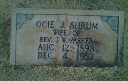 Ocie Jane <I>Shrum</I> Parker