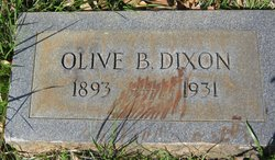 Olive B <I>Sauls</I> Dixon
