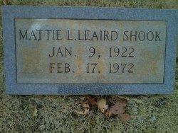 Mattie L. <I>Leaird</I> Shook