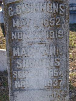 Mary Ann <I>Brannen</I> Simmons