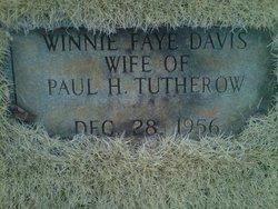 Winnie Faye <I>Davis</I> Tutherow