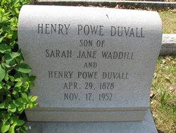 "Henry Powe ""Hal"" Duvall"
