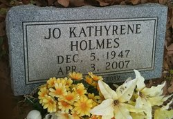 Jo Kathyrene <I>Parker</I> Holmes