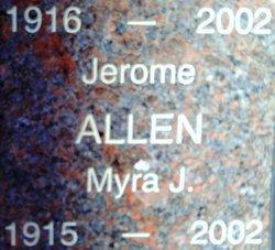Myra Jane <I>Thomas</I> Allen