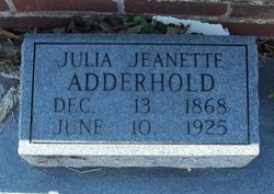 Julia Jeanette <I>Jones</I> Adderhold