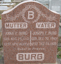 Anna P <I>Danz</I> Burg