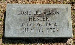 Josie Lee <I>Almon</I> Hester