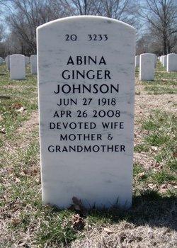 """Abina """"Ginger"""" <I>O'Connor</I> Johnson"""