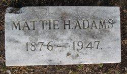 Mattie H. Adams