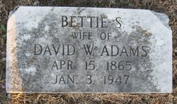 Bettie <I>Sturdivant</I> Adams