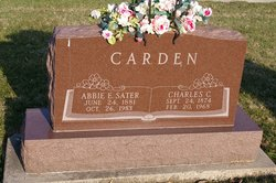Abbie Eleanor <I>Sater</I> Carden