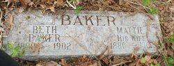 "Martha Jane ""Mattie"" <I>Barnett</I> Baker"