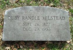 Ruby <I>Randle</I> Milstead