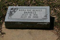 Wera Fay <I>Qualls</I> Daniels
