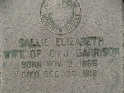 Sallie Elizabeth <I>Jennings</I> Garrison