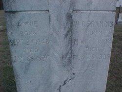 Annie <I>Sanders</I> Francis