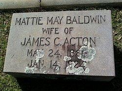 Mattie Mae <I>Baldwin</I> Acton