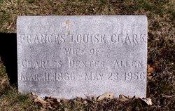 Frances Louise <I>Clark</I> Allen