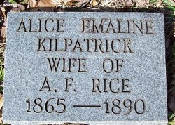 Alice Emaline <I>Kilpatrick</I> Rice