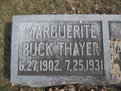 Marguerite <I>Buck</I> Thayer