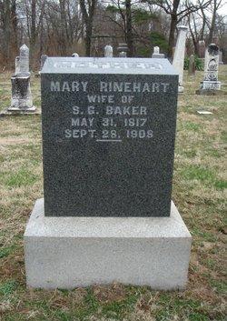 Mary <I>Rinehart</I> Baker