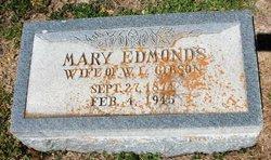 Mary <I>Edmonds</I> Gibson