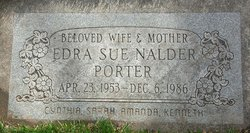 Edra Sue <I>Nalder</I> Porter