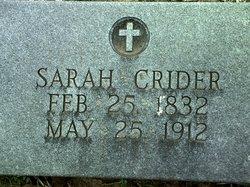Sarah Sally Amanda <I>Atkins</I> Crider