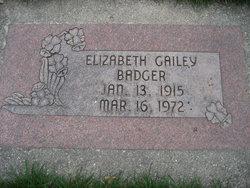 Elizabeth Layton <I>Gailey</I> Badger