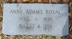 Anne <I>Adams</I> Royal