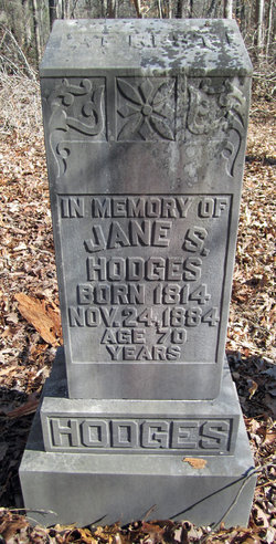 Jane Scott Erwin Hodges 1814 1884 Find A Grave Memorial
