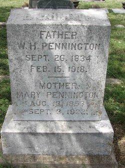Mary Frances <I>Roberts</I> Pennington