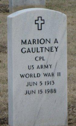 Marion A Gaultney